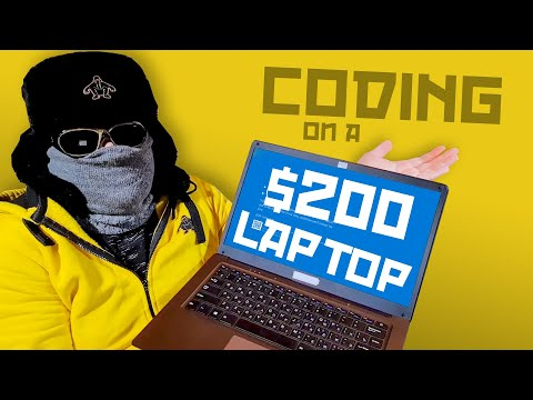 Coding On Cheapest Laptop Ever! - Programming With Boris