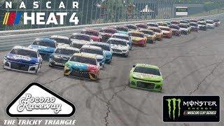 POCONO   NASCAR Heat 4   Championship Season   Monster Energy NASCAR Cup Series   Race 14