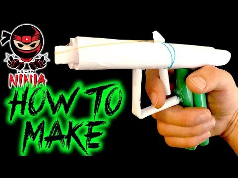 How To Make: Paper Gun (Rubber Band Shooter)