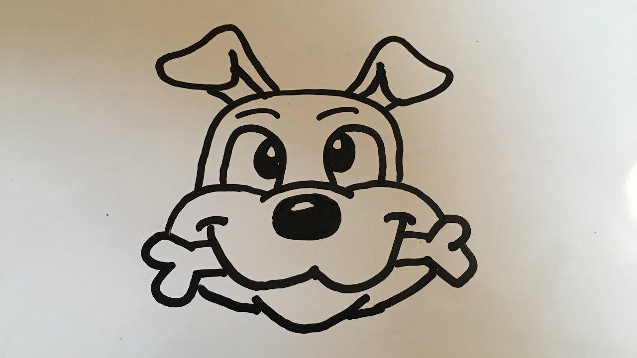 How To Draw A Cartoon Dog Head Youtube