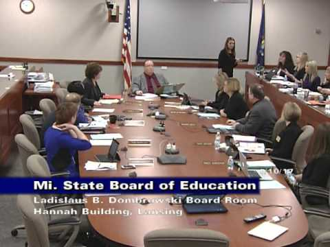Michigan State Board of Education Meeting for January 10, 2017 - Morning Session