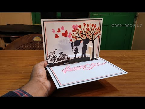 DIY Cute Valentine Card | Handmade Pop Up Card for Valentine's Day