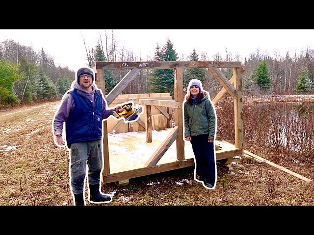 Installing Post & Beams on Our Off Grid Property Composting OutHouse Build (Day 4)