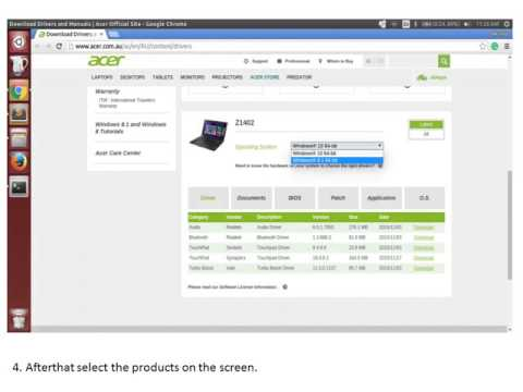 Acer One 14 Z1402 drivers for windows 7
