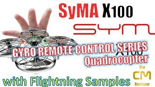 Syma X100 Test: Remote Control Quadrocopter - Hand-on (Deutsch, eng....