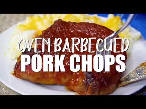 EASY OVEN BBQ PORK CHOPS