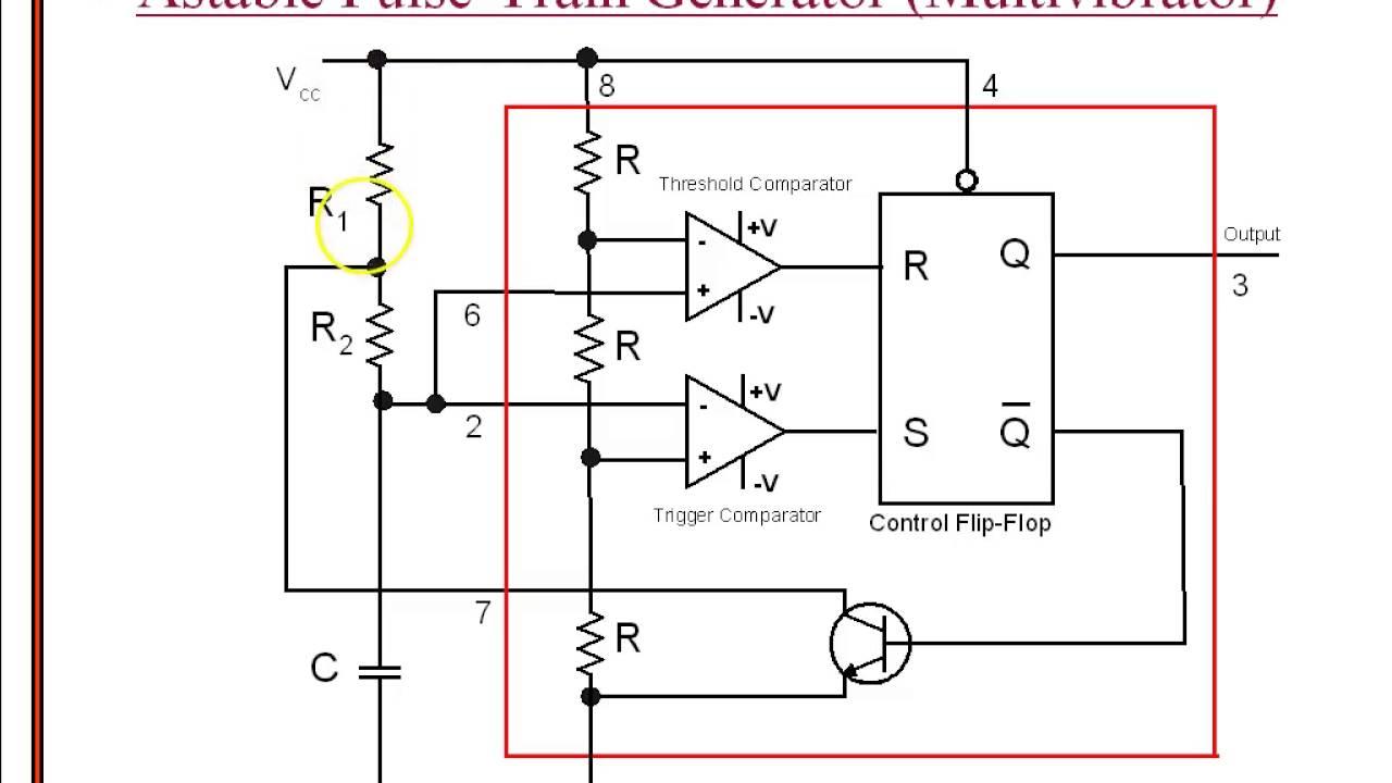 Astable Multivibrator Using 555