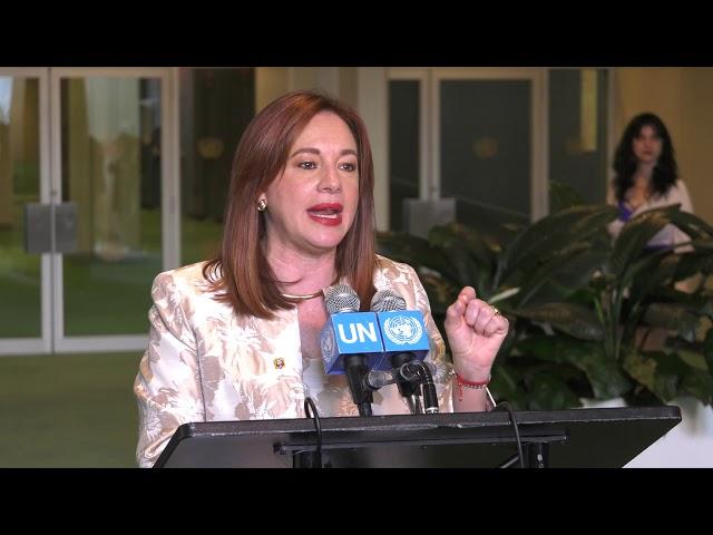 Rueda de prensa de María Fernanda Espinosa