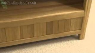 Newark Solid Oak Widescreen Tv / Dvd / Vcr Cabinet From Oak Furniture Land