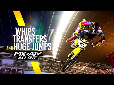 MX vs ATV All Out - Whips With Big Transfers And Huge Jumps!
