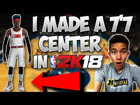 "I MADE A 7'7"" PLAYER IN 2K18!! NEVER SEEN BEFORE DUNKS! - NBA 2K18 