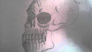 How to draw a demonic skull