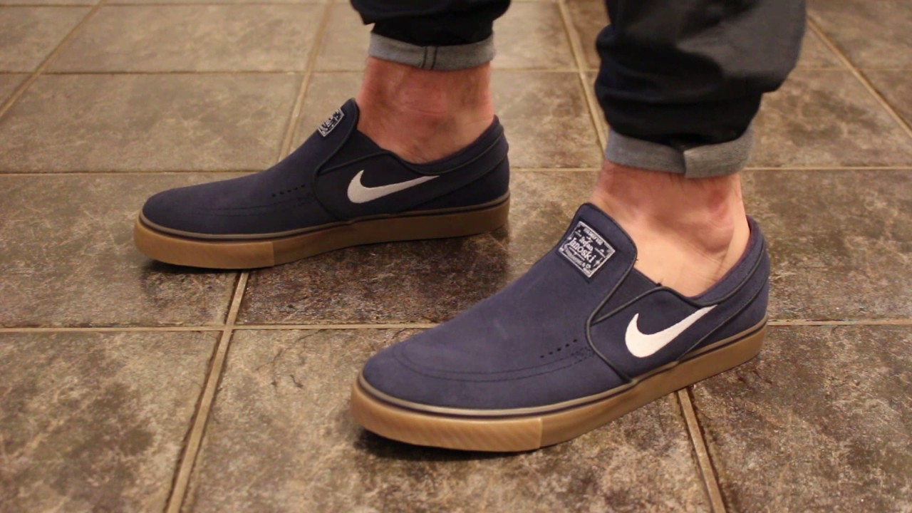 bfa42ae366ff Nike sb Zoom Stefan Janoski Slip-On ON FEET - YouTube