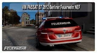 gta 4 vw passat b7 2012 berliner feuerwehr nef gta iv eflc