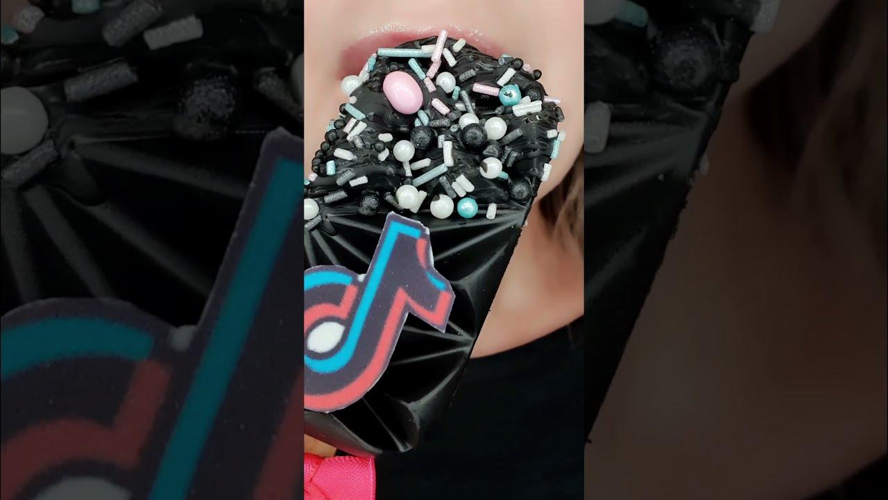 ASMR TikTok Cake Pop Satisfying Eating Sounds #shorts
