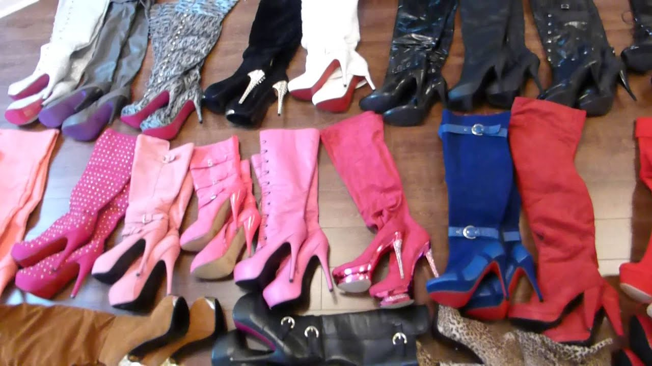 Transvestite Boy With High Heel Boots Collection Youtube