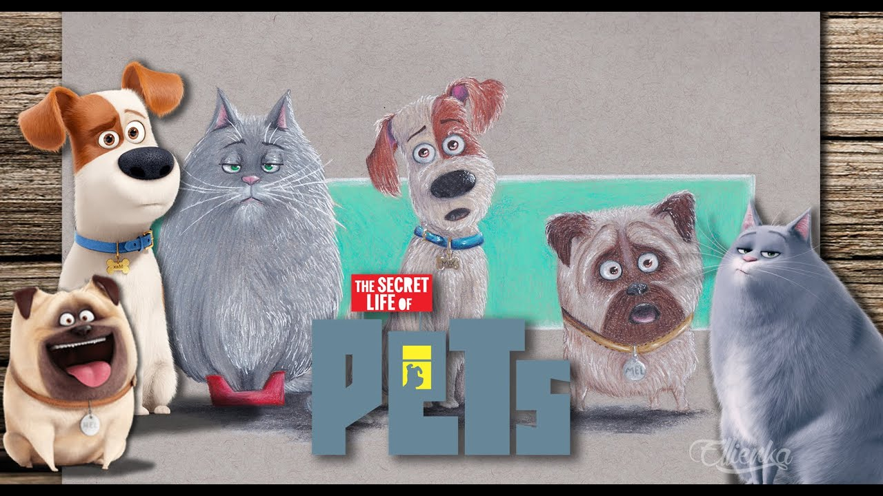 Max Mel Chloe How To Draw Cute Characters Secret Life Of Pets Youtube