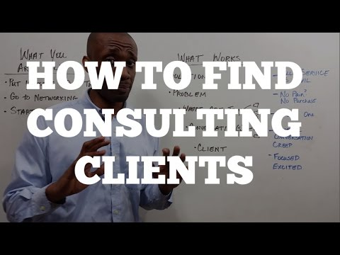 How To Find Consulting Clients