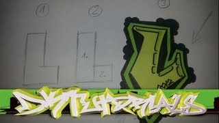 Graffiti tutorial for beginner/rookie step by step drawing