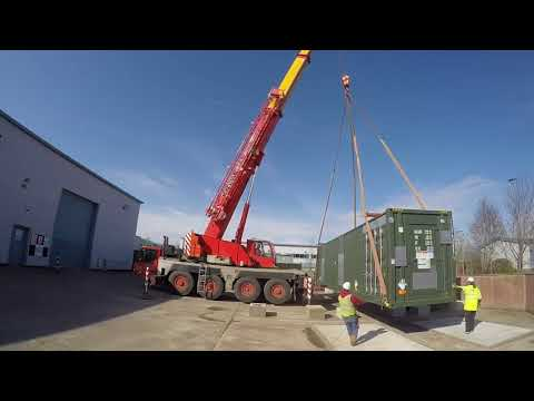 Install of an energy storage system - time lapse