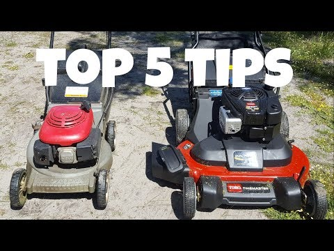 Top 5 Tips for Buying USED Lawn Mowers