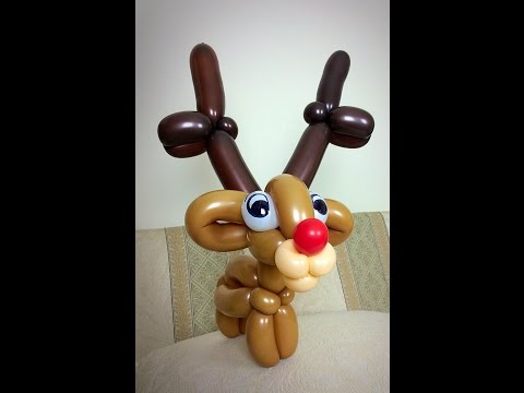 How to make a reindeer balloon