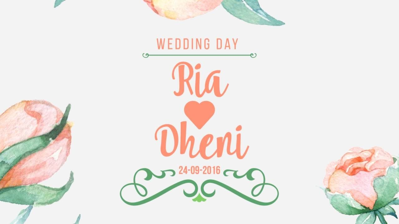 wedding invitation motion graphic - YouTube