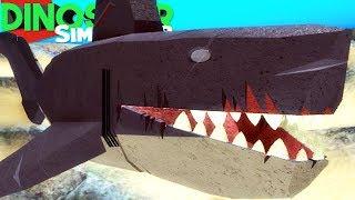 Simulador de dinosaurios (Roblox)-Aguas peligrosas, Megalodon caza! -(#98) (Juego)