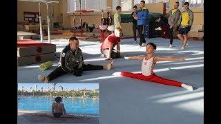 GYM for beginners: doing the splits/садимся на шпагат