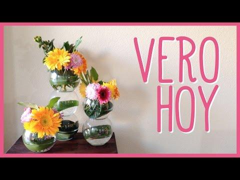 Centro de mesa con flores frescas facil youtube - Centros de mesa con flores ...