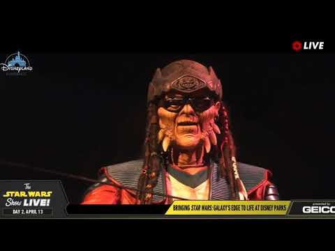 Hondo Ohnaka Animatronic Star Wars Galaxy Edge - Star Wars Celebration 2019 Chicago
