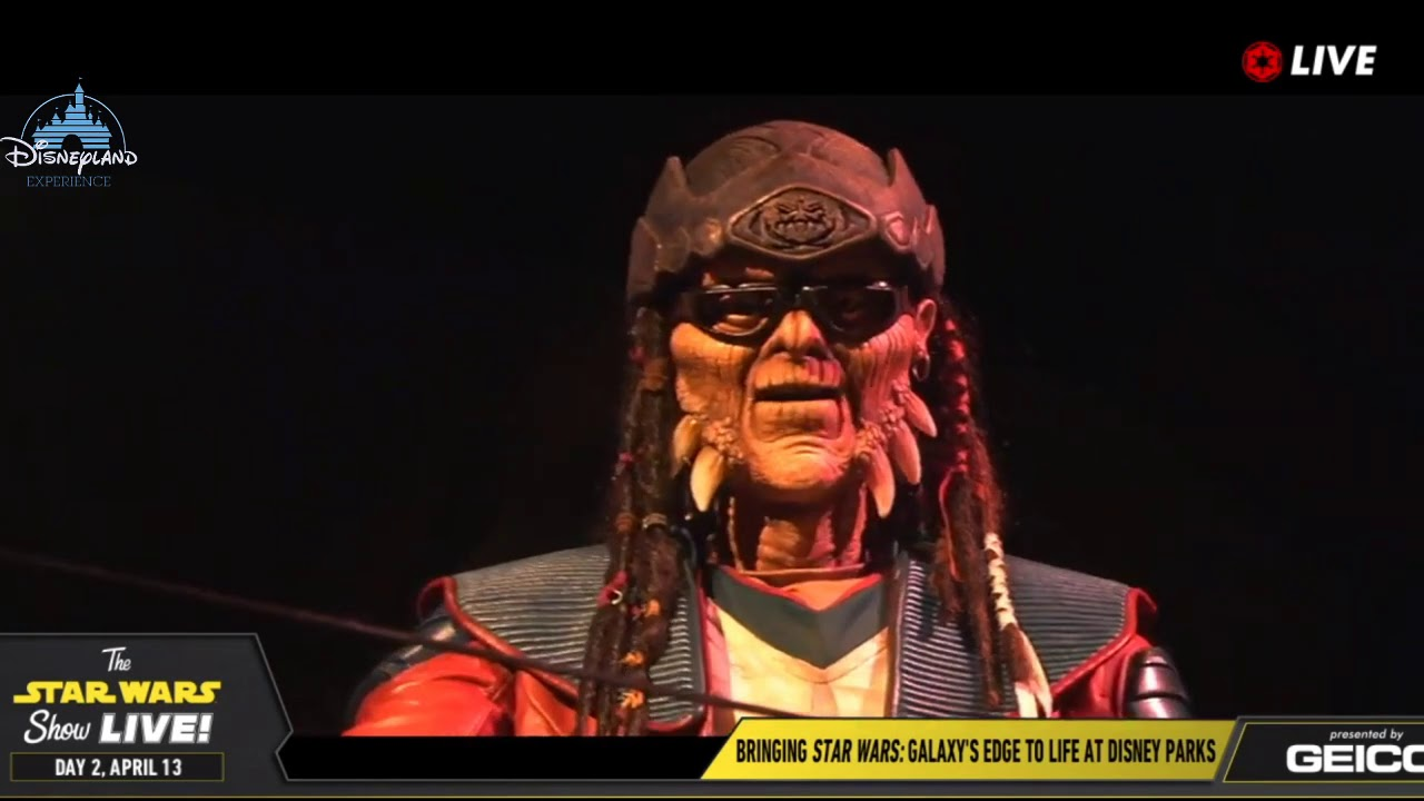 Hondo Ohnaka Animatronic Star Wars Galaxy Edge - Star Wars Celebration 2019  Chicago