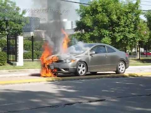 Texas Fires Car Crash