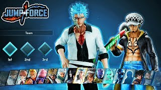 Jump Force - ALL NEW DLC Pack 4 Characters Moveset & Ultimates Gameplay - Grimmjow & Law Gameplay