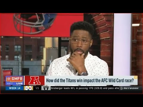 How did the Titans win impact the AFC Wild Card race? | GMFB