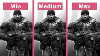 Gears of War Ultimate Edition – PC Min vs. Medium vs. Max Graphics Comparison