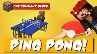 GIOCHIAMO A PING PONG SU MINECRAFT VANILLA! [MultiPlayer One Command Mod]