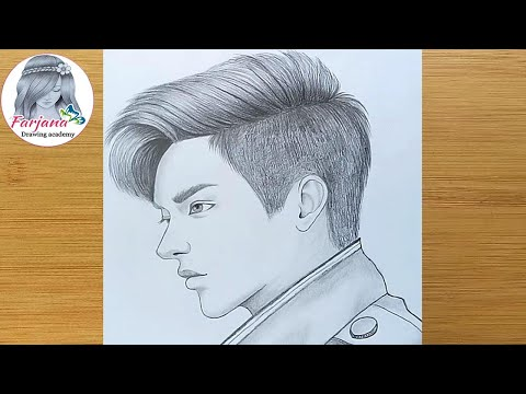 A Boy Drawing For Beginners (easy Way)  ||  Boy's Face Pencil Sketch