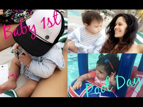 Baby 1st Pool Day VLOG | Nicole Moure