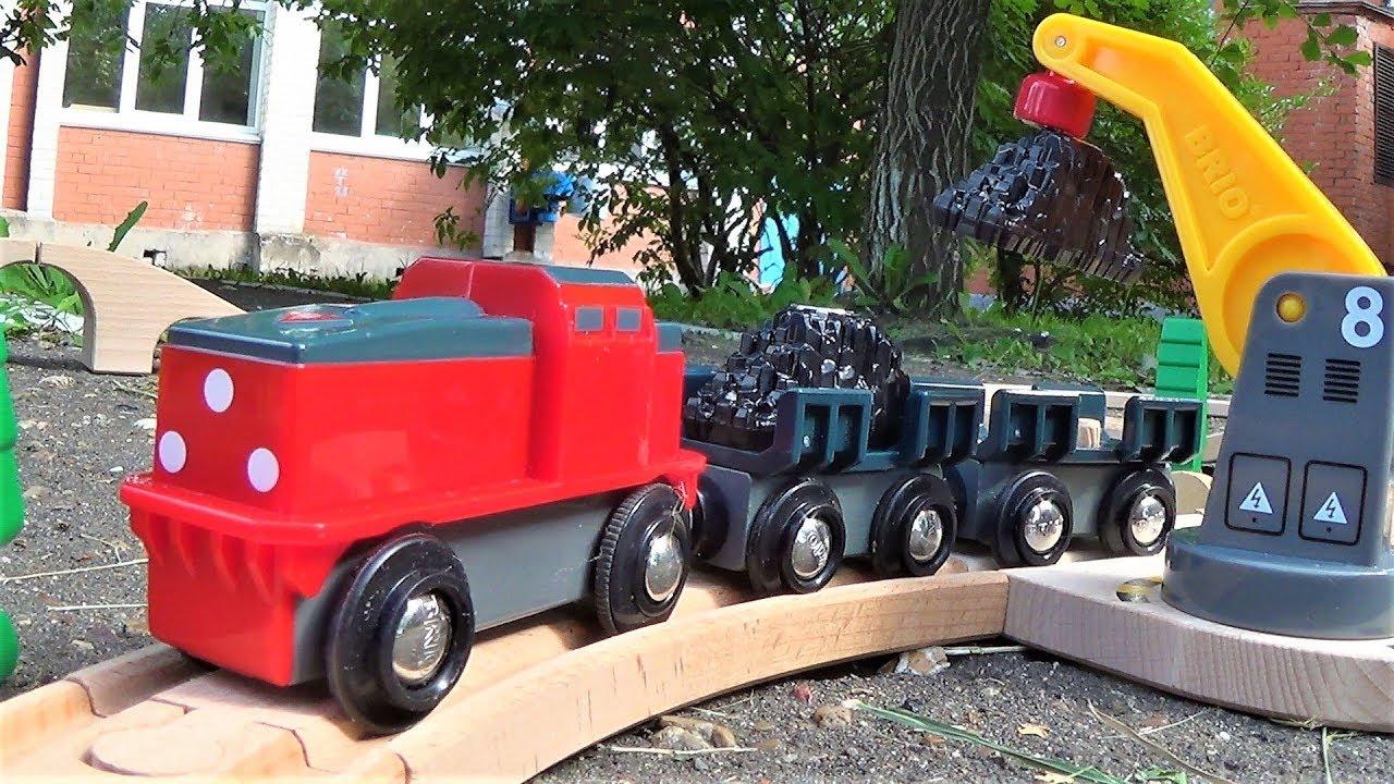 поезд и деревянная железная дорога Brio игрушки для мальчиков видео про поезда для детей