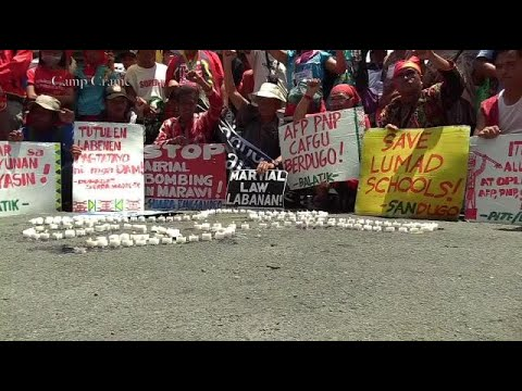 Moros and Indigenous people hold protest action