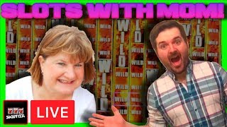 Playing Walking Dead 2 Slot Machine W/ MOM For The First Time Ever! Big Winning W/ SDGuy1234