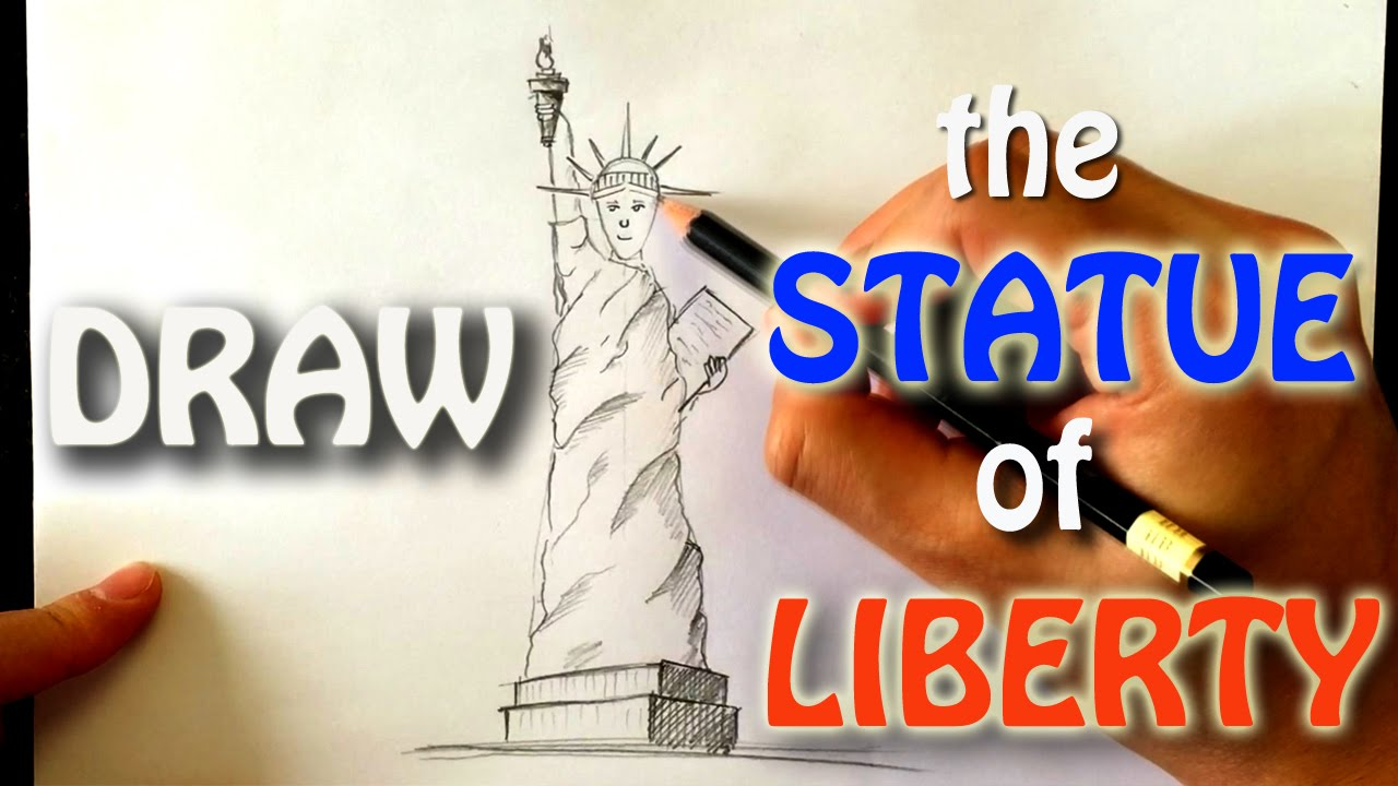 how to draw the statue of liberty easy version youtube