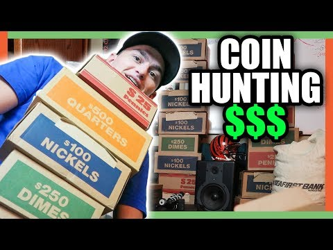 FINDING RARE COINS FROM THE BANK - COIN ROLL HUNTING LIVE!!