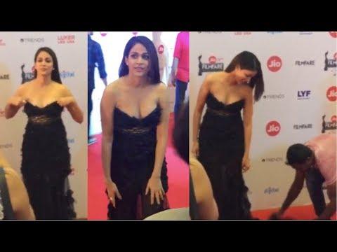 Lavanya Tripati Uncomfortable Dress Slip Moment  | Filmy Monk