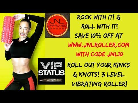 ROCK & ROLL! Master Trainer Jennifer Nicole Lee Shares Fav Vibrating Roller! Use Code JNL10