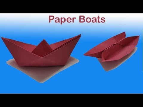 DIY ! How to make paper boat in 5 simple steps | Single and Twin Paper Boats | Paper Crafts | TF