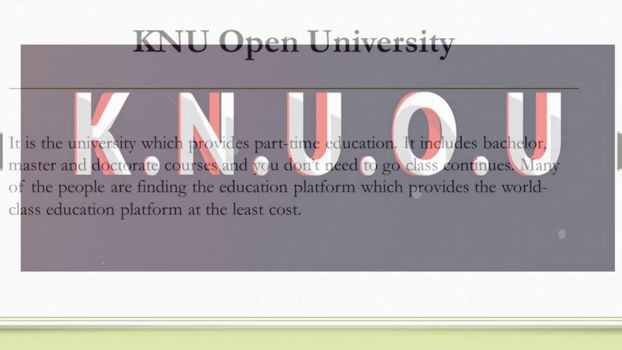 KNU Open University Benefits of Online Programs