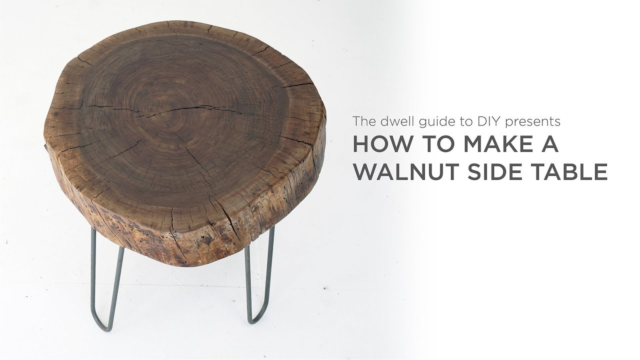 Diy Walnut Side Table A Dwell Made Project By Ben Uyeda