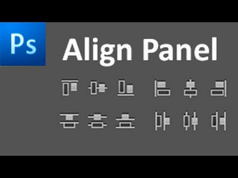 60 Second Photoshop Tutorial : Using The Align Panel -HD-